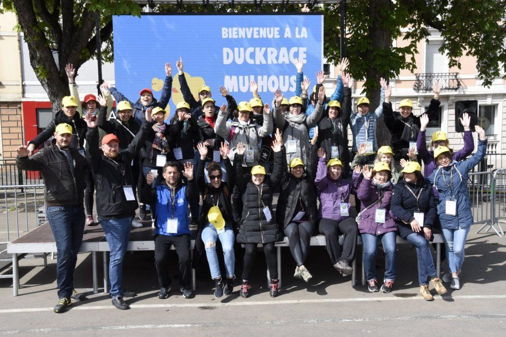 Les bénévoles de la Duckrace à Mulhouse en 2019